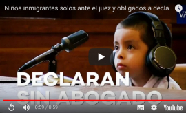 Video: Recrean juicios en inglés contra niños migrantes en Estados Unidos
